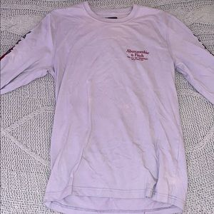 Abercrombie and Fitch purple longsleeve T-shirt